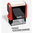 This Trodat Printy self-inking stamp clothing marker makes it easy to mark clothing textiles such as shirts or children's clothing. Get it here on the EZ Custom Stamp store.