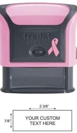 Support Breast Cancer Awareness with the Pink Trodat Printy 4913, a great personalized business or return address stamp. Shop now at EZ Custom Stamps (608) 310-4300.