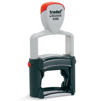 Trodat 5200 self-inking stamp is good for rapid, repeat impressions. Perfect for return address, bank endorsement or custom-designed stamps.