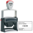 Add impact to a date with the addition of your custom message using the Trodat 5460 Professional self-inking line dater. Ideally suited to busy environments.