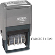 "No need to customize this Xstamper Classix 40340 self-inking micro message dater. Impression size is 15/16"" x 1-3/4"". Phrases include: ANS'D, BAL, CANC,  CHG'D, ENT'D, C.O.D., FILED, FILLED, PAID, REC'D, RET'D, SHIP'D. Impression size is 15/16"" x 1-3/4""."