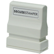This small Xstamper pre-inked secure privacy stamp helps prevent identify theft and unlawful use of your sensitive information.