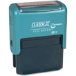Do you need a custom 4 line self-inking stamp? Shop the Xstamper ClassiX eco-friendly stamp line today for office or personal use.