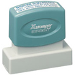 Shopping for a rectangular pre-inked stamper? This ecofriendly Xstamper N13 provides customization up to four lines and is made with over 60% recycled content.