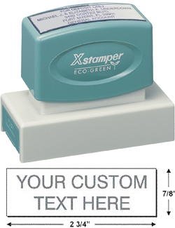 Customize up to seven lines of text with a pre-inked, eco-friendly Xstamper N18 from EZ Custom Stamps. The N18 is one of the best sellers for signature stamps. Shop now or call (608) 310-4300 for more information.