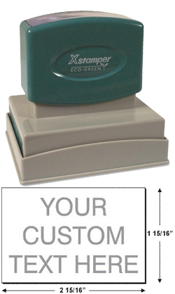 Shop EZ Custom Stamps for customized rubber stamps. Make your own custom address stamp or monogram stamp with the Xstamper N22. Call (608) 310-4300 for more information.