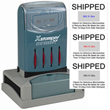 This is a 2-Color Xstamper N80 VersaDater. The design preview will only display one color. Date - Prints month, date and year color of your choice. Select Color for Date using the radio button. Copy Text - Prints copy text in the color of your choice.