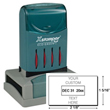 Looking for a rectangular stamp dater? This Xstamper N82 provides customization up to four lines, comes in one ink color, and makes date stamping effortless.
