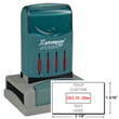 Looking for a rectangular stamp dater? This Xstamper N82 provides customization up to four lines, comes in two ink colors, and makes date stamping effortless.