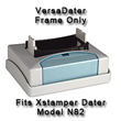 Xstamper N83 VersaDater Frame Only. Use as a replacement in your VersaDater N82. Laser Engraved Rubber is Strong and Durable for years of use. Makes approximately 50,000 impressions before needing to be re-inked.