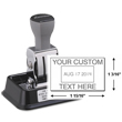 Xstamper N90 die plate heavy-duty date stamp is a traditional stamp that comes in it's own 1-color pre-inked base. Designed for repetitive impressions. It is constantly re-inked as it rests in it's handy base and carries the Xstamper lifetime guarantee.