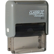 Looking for a rectangular stamper? This Xstamper ClassiX P11 model provides customization up to four lines and makes stamping effortless.