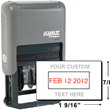 "Use Xstamper Classix P40 Custom Self-Inking Dater Stamp for one to two line messages for your two color date stamp. Impression Size 15/16""H x 1-9/16""W."