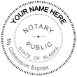 """Looking for state stamp embossers? Purchase this Trodat round Alaska notary public stamp embosser. Featuring a 1-5/8"""" round model, this official stamper is perfect for office use."""