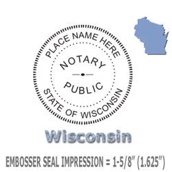 Wisconsin Official Notary Public Embossing Seal EZ Reach Paper Crimper Embosser