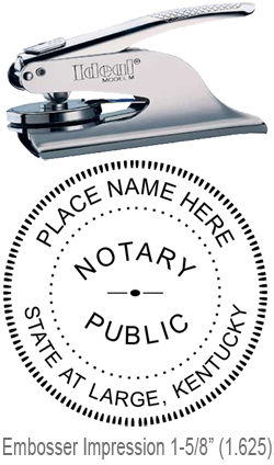 Kentucky Official Notary Public Embossing Seal Paper Crimper Custom Embosser Ez Stamps 608 310 4300