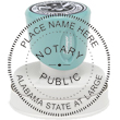 Looking for an Alabama notary stamp? This Xstamper round N53 model is eco-friendly with over 50% recycled content and carries a lifetime guarantee.