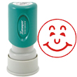 "Looking for a ""Smiley"" message stamper? Buy this pre-inked Xstamper model 11303, a red one-color stamp that makes sorting office paperwork easy."