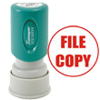 "Need a ""File Copy"" message stamper? Buy this pre-inked Xstamper model 11421, a red circular message stamp perfect for the office."