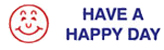 "Looking for a message stamper with ""have a happy day""? This Xstamper pre-inked message adds personality to your office documents or papers."