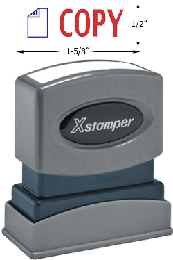"Need a ""Copy"" message stamper? This Xstamper pre-inked message makes it easy to organize and file your office documents."