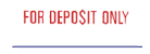 "Need a ""For Deposit Only"" message stamper? This Xstamper pre-inked message makes it easy to mark and deposit your company checks."