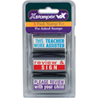"""Shop this 3-pack stamp kit made just for teachers! Includes """"This Work Teacher Assisted"""" """"Review & Sign"""" and """"Please Review With Your Child"""" pre-inked stamps to make your life easier!"""