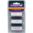 """Shop this 3-pack stamp kit made just for teachers! Includes """"Please See Me"""" """"Great Improvement"""" and """"Much Better…Keep Trying"""" pre-inked stamps to make your life easier!"""