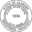 Looking for registered architect professional stamps for the state of Alabama? Shop for your custom architect professional stamp here at the EZ Custom Stamps store.