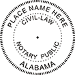 Need a Civil Law public stamp for the state of Alabama? Shop this customizable notary public stamp here at the EZ Custom Stamps store.