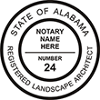Need a landscape architect stamp? Buy this Alabama registered landscape architect stamp at the EZ Custom Stamps Store. Available in various mount options.
