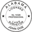 Looking for land surveyor stamps? Shop our Alabama licensed land surveyor stamp at the EZ Custom Stamps Store. Available in several mount options.