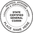 Looking for a real estate appraiser stamp for the state of Arizona? Find your occupation stamp on the EZ Custom Stamps store today.