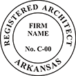 Looking for registered architect professional seal stamps for the state of Arkansas? Shop for your custom architect professional stamp here at the EZ Custom Stamps store.