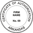Looking for a Certificate of Authorization stamp for the state of Arkansas? Purchase your customizable authorization seal stamp here at the EZ Custom Stamps store.