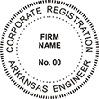 Looking for a corporate engineer stamp for the state of Arkansas? This official professional engineer stamp is customizable. Buy it here at the EZ Custom Stamps store.