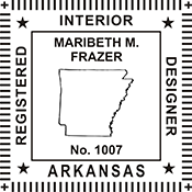 Looking for Interior designer stamps? Check out our Arkansas registered interior designer stamp at the EZ Custom Stamps Store.