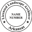Need a landscape architect stamp? Buy this Arkansas licensed landscape architect stamp at the EZ Custom Stamps Store. Available in various mount options.