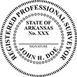 Looking for land surveyor stamps? Shop our Arkansas registered land surveyor stamp at the EZ Custom Stamps Store. Available in several mount options.