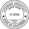 Looking for licensed architect professional seal stamps for the state of California? Shop for your custom architect professional stamp here at the EZ Custom Stamps store.
