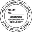 Looking for professional engineer stamps? Our California professional engineering geologist stamps are available in several mount options, check them out at the EZ Custom Stamps Store.