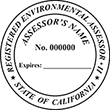 Looking for professional assessor stamps? Our California environmental assessor stamps are available in several mount options, check them out at the EZ Custom Stamps Store.