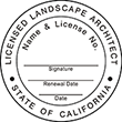 Need a landscape architect stamp? Check out our California licensed landscape architect stamp at the EZ Custom Stamps Store. Available in various mount options.