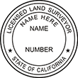Looking for land surveyor stamps? Shop our California licensed land surveyor stamp at the EZ Custom Stamps Store. Available in several mount options.