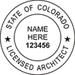 Looking for licensed architect professional seal stamps for the state of Colorado? Shop for your custom architect professional stamp here at the EZ Custom Stamps store.