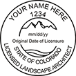 Need a landscape architect stamp? Check out our Colorado licensed landscape architect stamp at the EZ Custom Stamps Store. Available in various mount options.