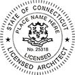 Looking for licensed architect professional seal stamps for the state of Connecticut? Shop for your custom architect professional stamp here at the EZ Custom Stamps store.