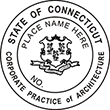 Looking for a corporate architect stamp for the state of Connecticut? This official professional stamp is customizable. Buy it here at the EZ Custom Stamps store.