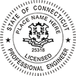 Looking for professional engineer stamps? Our Connecticut professional engineer stamps are available in several mount options, check them out at the EZ Custom Stamps Store.