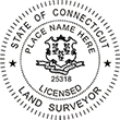 Looking for land surveyor stamps? Shop our Connecticut licensed land surveyor stamp at the EZ Custom Stamps Store. Available in several mount options.